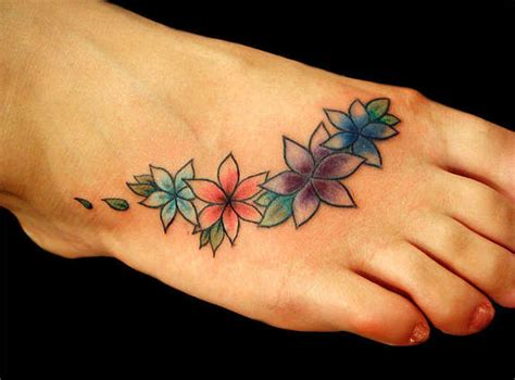 flowers on foot tattoo designs foot flower tattoos flowers ideas for review