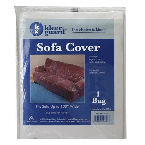 plastic covers 134 quot x 42 quot plastic sofa cover