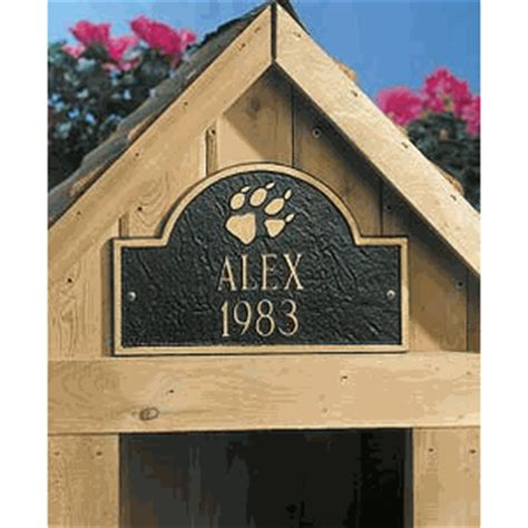 dog house sign whitehall 5015 personalized dog house sign