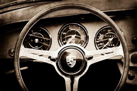 porsche wheel emblem 1964 porsche c steering wheel emblem photograph by reger