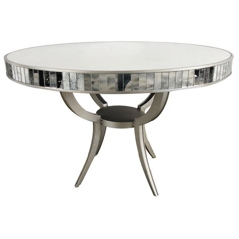 modern metal glass dining room table 48 d x 32 h