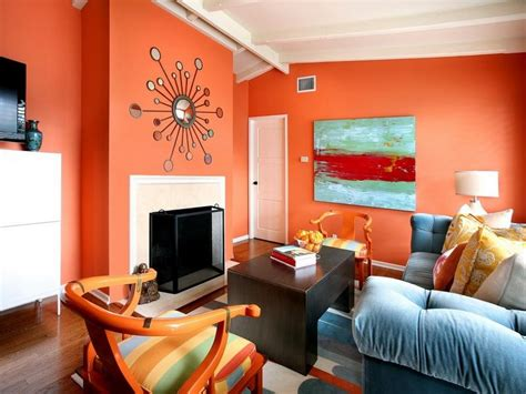 bloombety orange living space paint wall attractive orange paint for home interior
