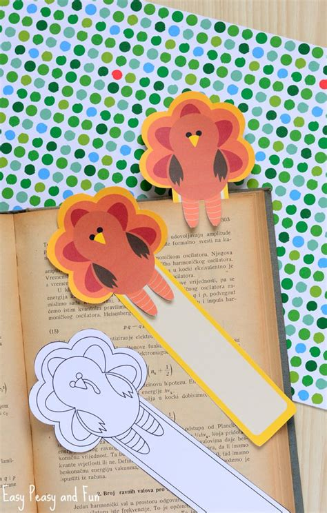 printable turkey bookmarks printable turkey bookmarks easy peasy and fun