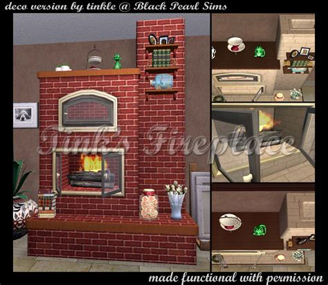 Sims Freeplay Fireplace by Mod The Sims Tink S Fireplace Functional Version