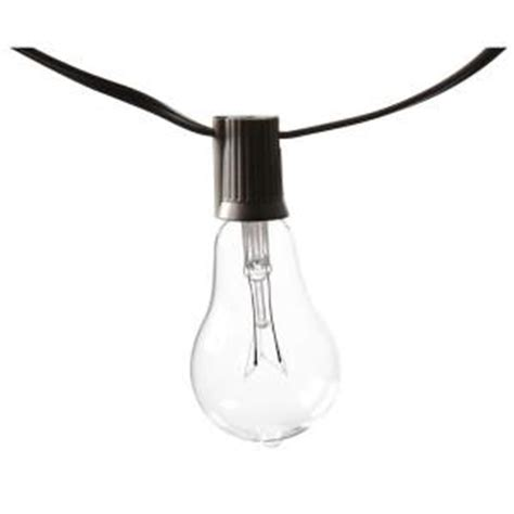 edison 10 light outdoor decorative clear bulb string light kf01615 the home depot