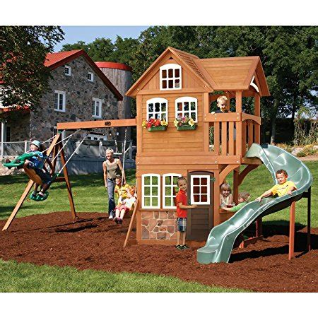 best backyard play structures the best backyard swing sets for kids 2018 family living