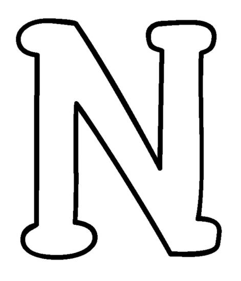 N Coloring Pages free coloring pages of n is for