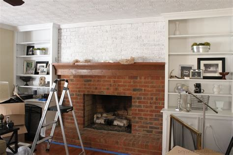 How To White Wash A Fireplace by How To Whitewash A Brick Fireplace Erin Spain