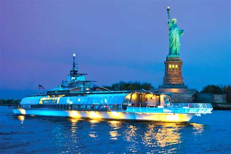 new york boat cruise night statue of liberty dinner cruises in new york bateaux cruises
