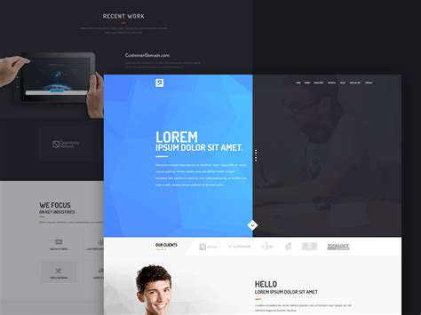 digital business card website template high quality 50 free corporate and business web templates