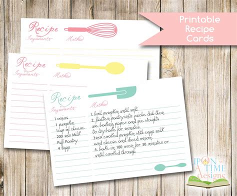 4 Best Images Of Cute Printable Recipe Cards Free Printable Recipe Card Template Free Recipe Design Template