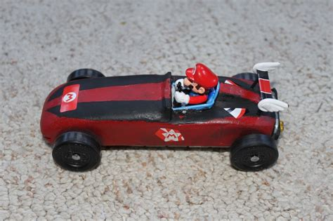mario kart pinewood derby template this is a picture of our mario pinewood derby car i used