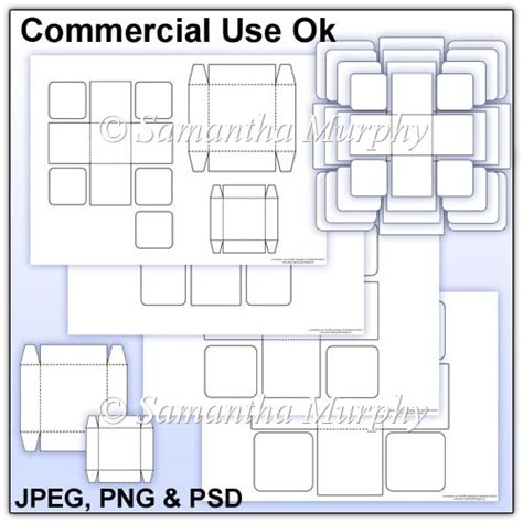 exploding box template commercial use 163 3 00 instant