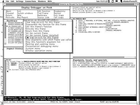 layout manager lisp symbolics development environment