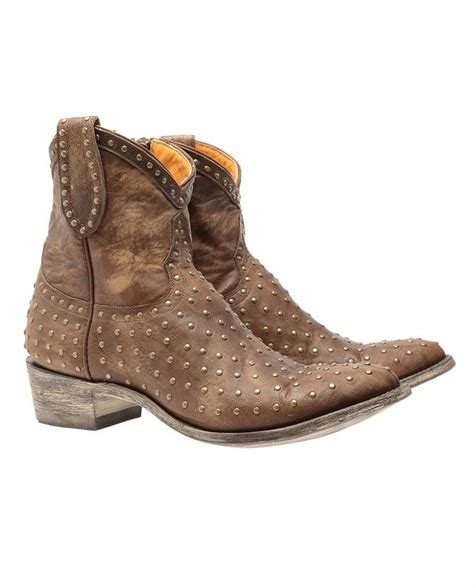 mexicana leather cowboy boots with studs in brown lyst
