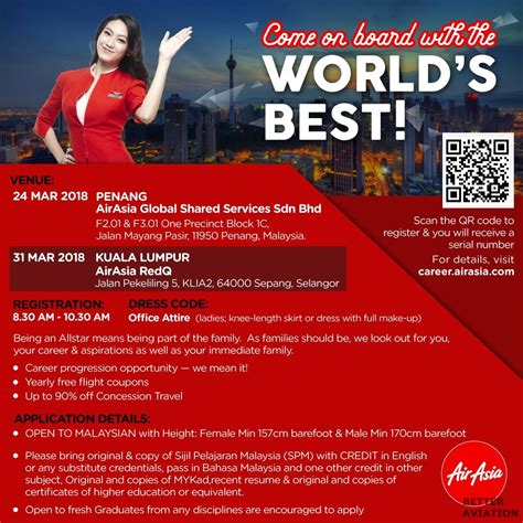 airasia malaysia career airasia cabin crew walk in interview march 2018 better