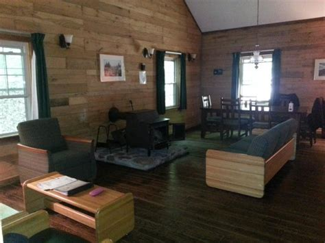 one of the cabins they all rocking chairs and