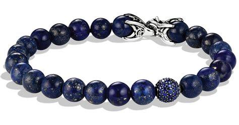 david yurman bead bracelet lyst david yurman spiritual bracelet with lapis