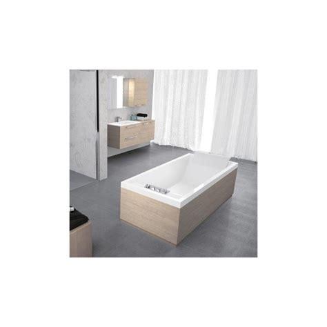 Baignoire 180x80 Avec Tablier by Novellini Sense 4 180x80 Avec Cadre Blanc 1 Tablier