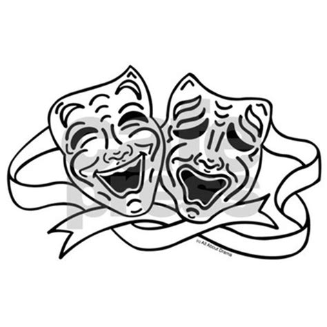black and white drama comedy tragedy drama masks black on white mini b by