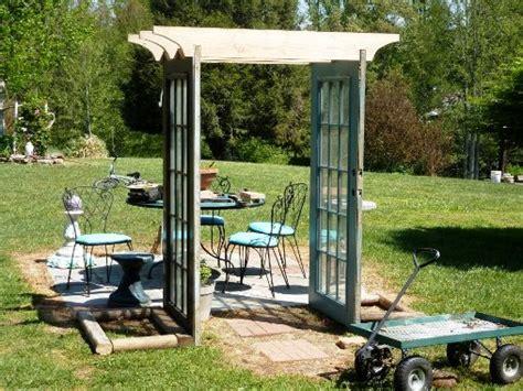 Garden Arbor Made From Doors Snazzy Re Purposed Garden Arches Flea Market