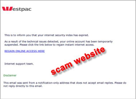 Westpac Credit Letter Archive Email Scam Alerts Westpac