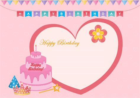 free birthday card templates add photo free editable and printable birthday card templates