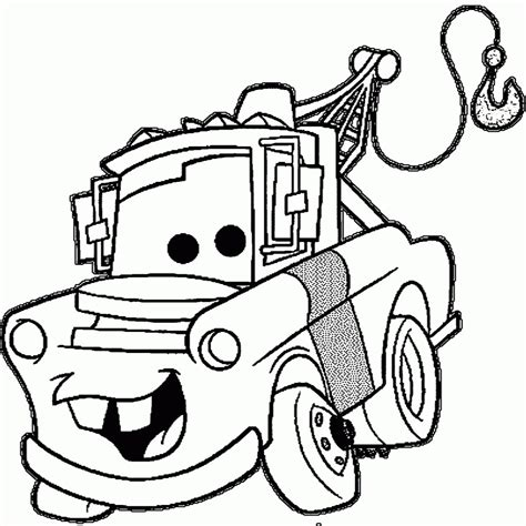 coloring pictures of mater from cars new lightning mcqueen and mater coloring pages to print