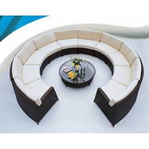 Circular Patio Seating by A Round Pod Outdoor 11 Piece Deep Seating Set