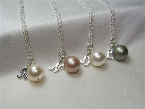 Wedding Jewelry For Bridesmaids by Bridesmaid Jewelry Set Of 4 Initial Necklace
