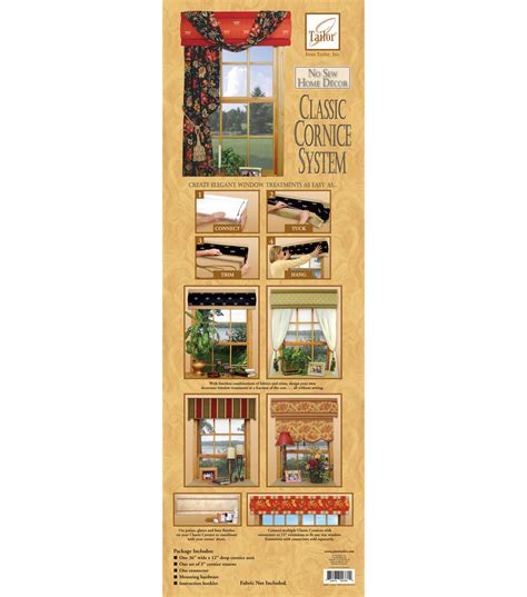 sew home decor june tailor no sew home decor classic cornice system jo ann
