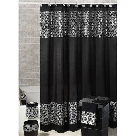 White And Black Shower Curtain by Black And White Fabric Shower Curtain Decor Ideasdecor Ideas