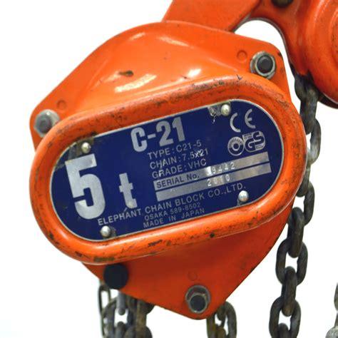 Heavy Duty Chain Block 3 Ton X 5 0m Krisbow Kw0501395 elephant chain block 5 ton 10 ft lift chain c21 5 heavy duty manual chain hoist