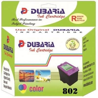 Cartridge Hp 802 Color 30 on dubaria 802 color ink cartridge for hp 802