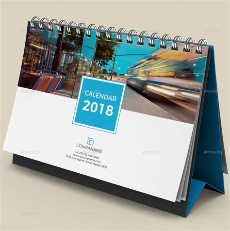 desk calendar 2017 2018 desk calendar 2018 by bourjart graphicriver