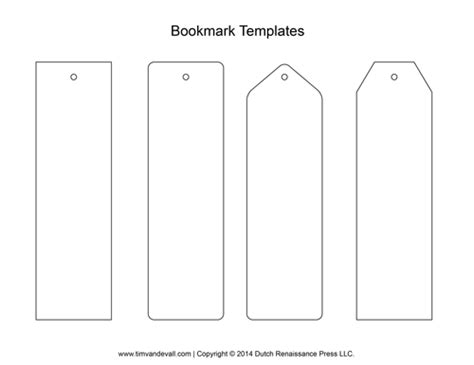 plain bookmark template blank bookmark templates make your own bookmarks