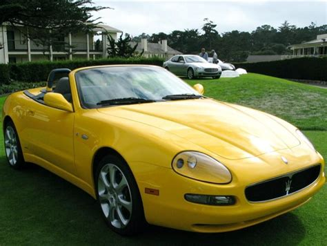 maserati yellow motorvista car pictures maserati convertible pic