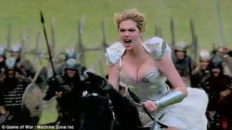 commercial girl game of war kate upton to be replaced by mariah carey in game of war