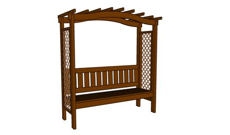 arbor with bench pdf diy arbor bench design download arbor designs plans