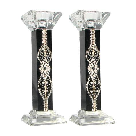 cheap shabbat candlesticks glass and cristal candlesticks arbel judaica wholesale store
