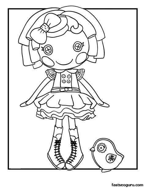 printable dot starlight lalaloopsy coloring page