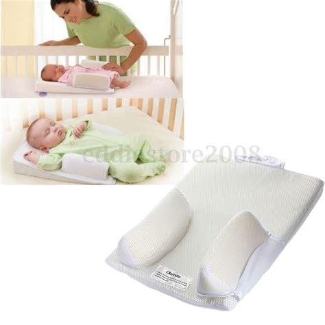 pillow for baby to sleep in bed baby infant newborn airflow sleep positioner anti roll