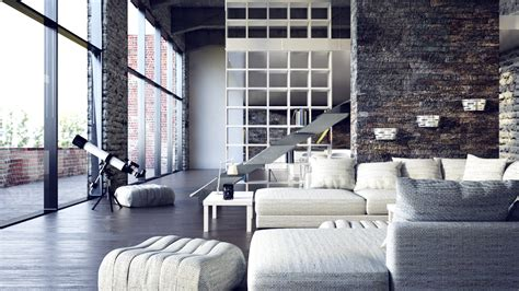 loft interior two beautiful urban lofts visualized