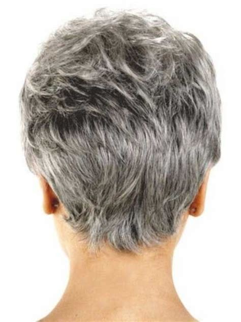 back view of short hair for mature and grey hair the amazing short hairstyles for older ladies back view