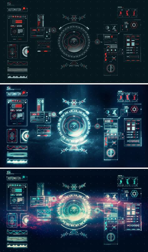 template after effects free ideal xtreme cyber9videos prototype space age ui by ben aji on deviantart