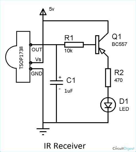 ir transmitter and receiver circuit diagram