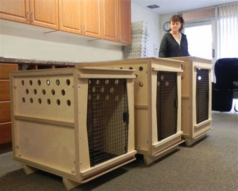 built in kennel modified and custom built airline kennels crates