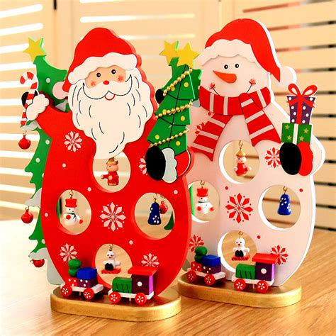 christmas gufts for desk mates 2017 diy wooden santa claus ornament table desk decoration gifts