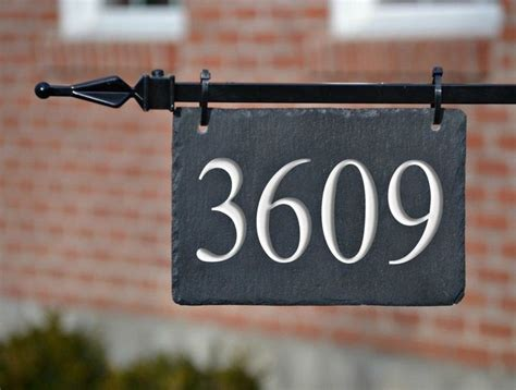 hanging address plaques for l post lamppost hanging house numbers carved stone address