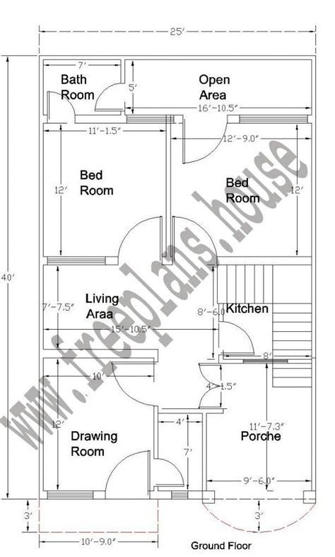 ground floor plan 20x40 ground floor plan plans house